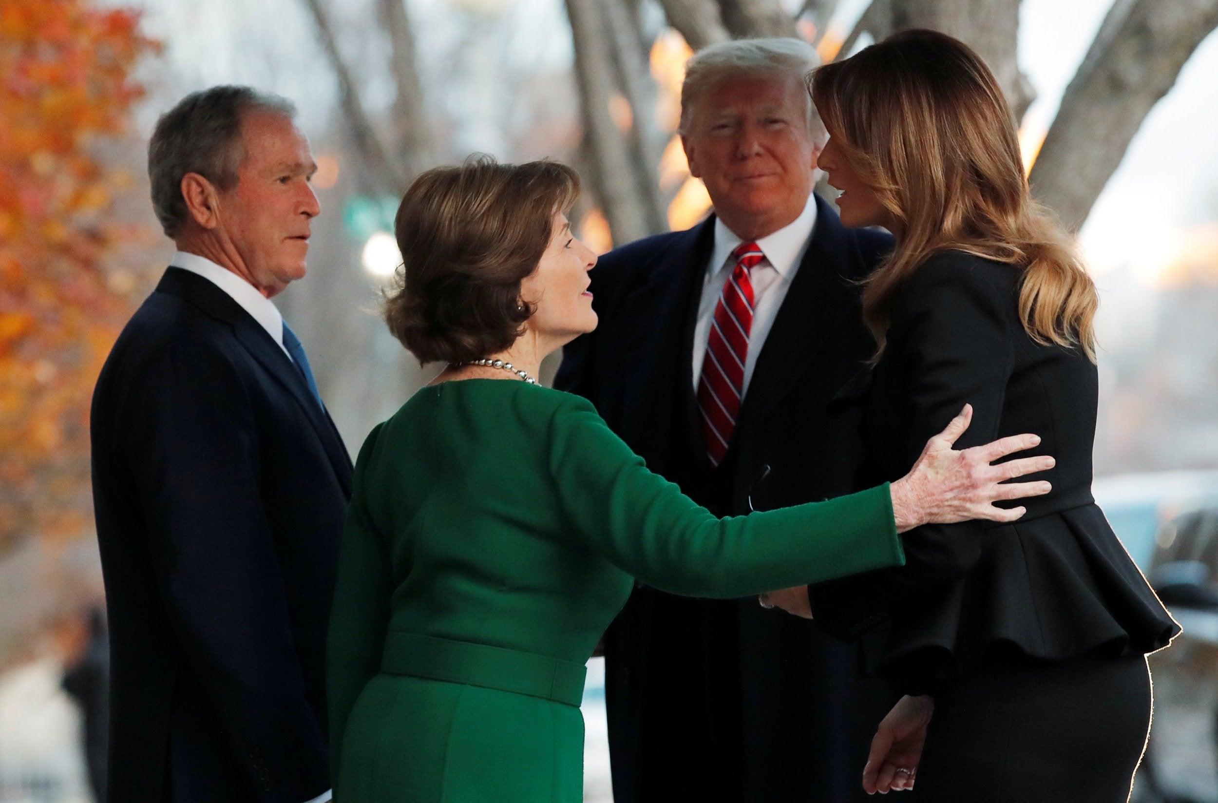 Donald And Melania Trump Use Eight Vehicle Motorcade To
