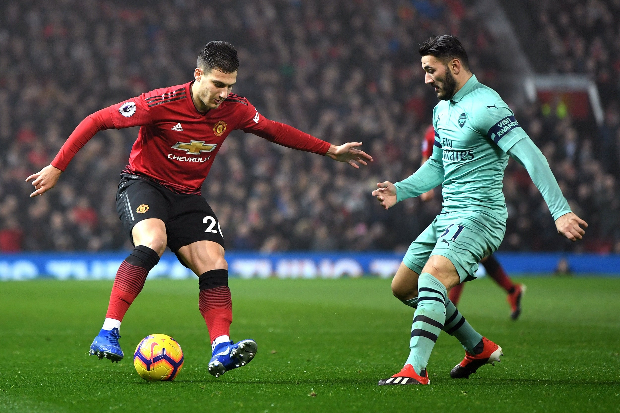 Image result for manchester United arsenal dalot