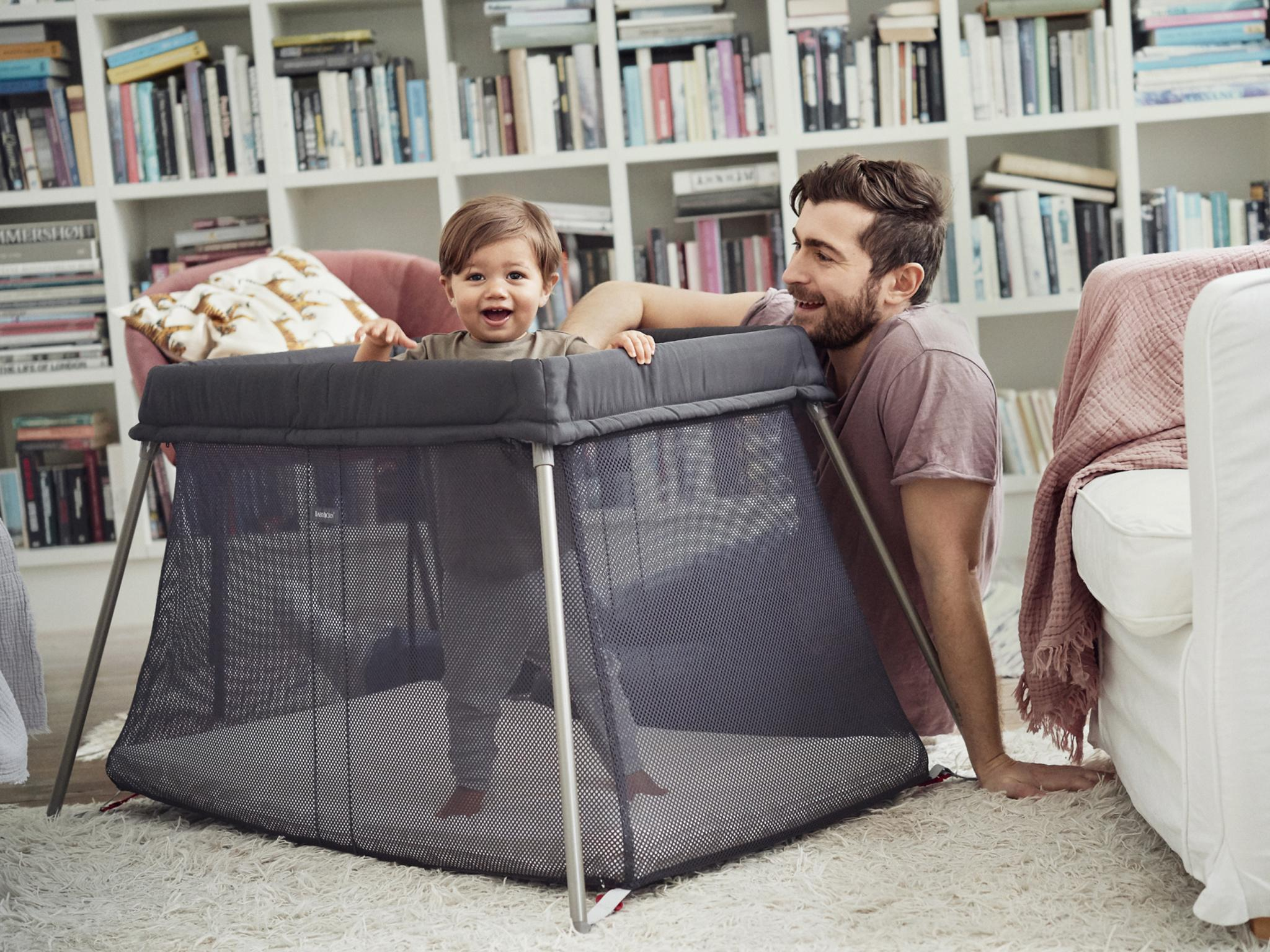 Grey Fast Delivery Mini Space Saver Small Cot 4 Baby Mattress Compact