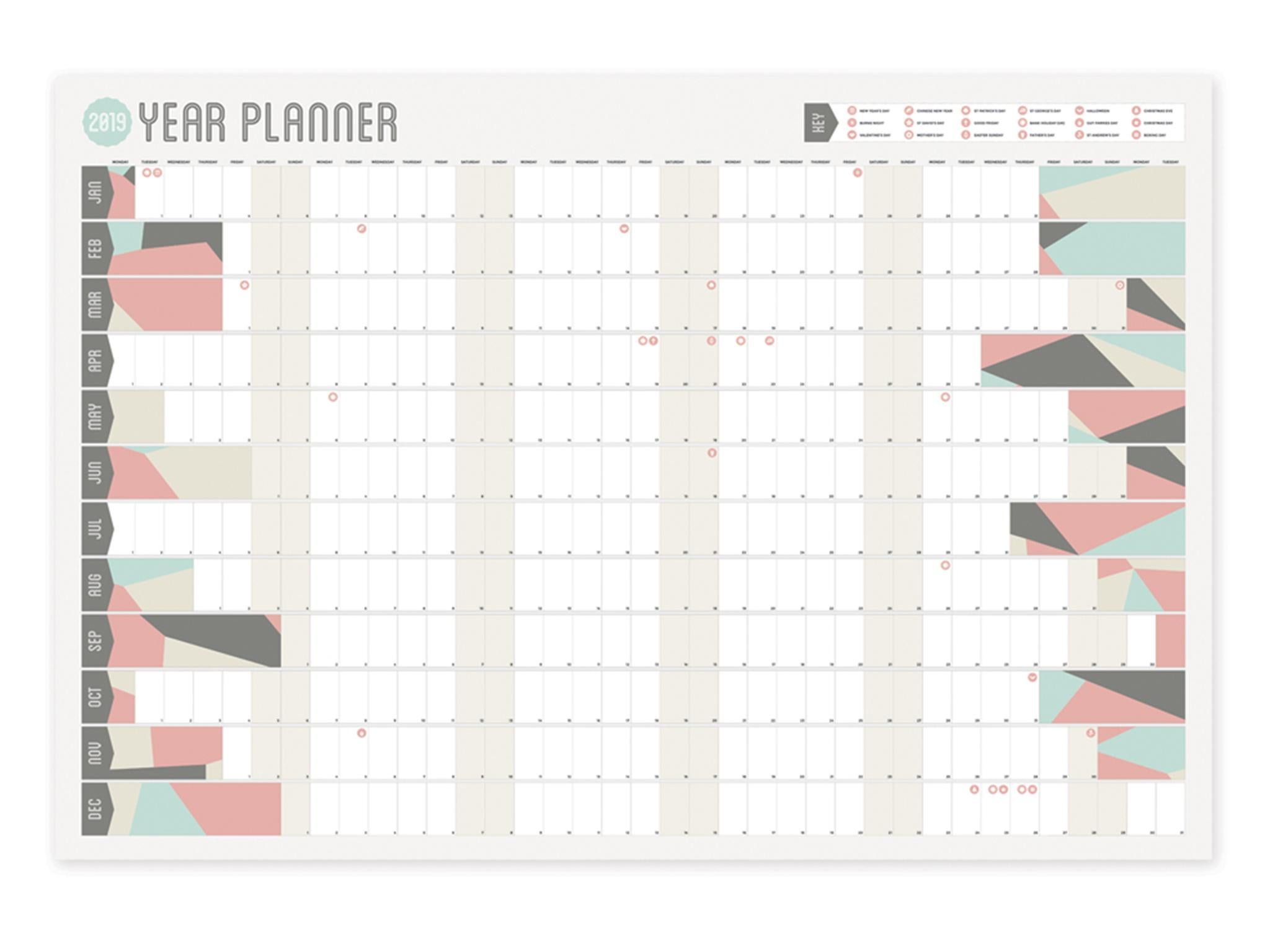38c72ba86c72e 26 best calendars and wall planners for 2019 | The Independent