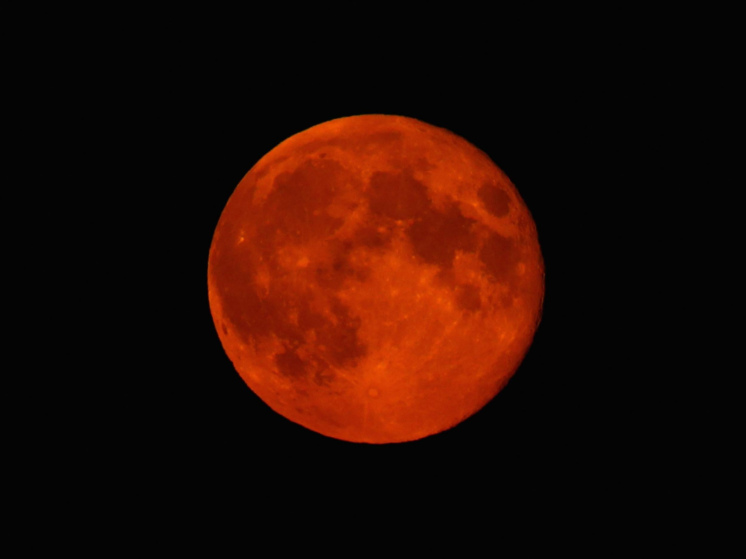 Stargazing January Copper Coloured Supermoon Looms During Total