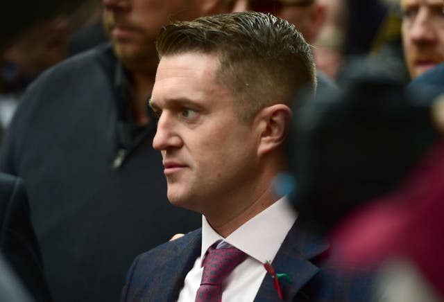 Former EDL chief Tommy Robinson