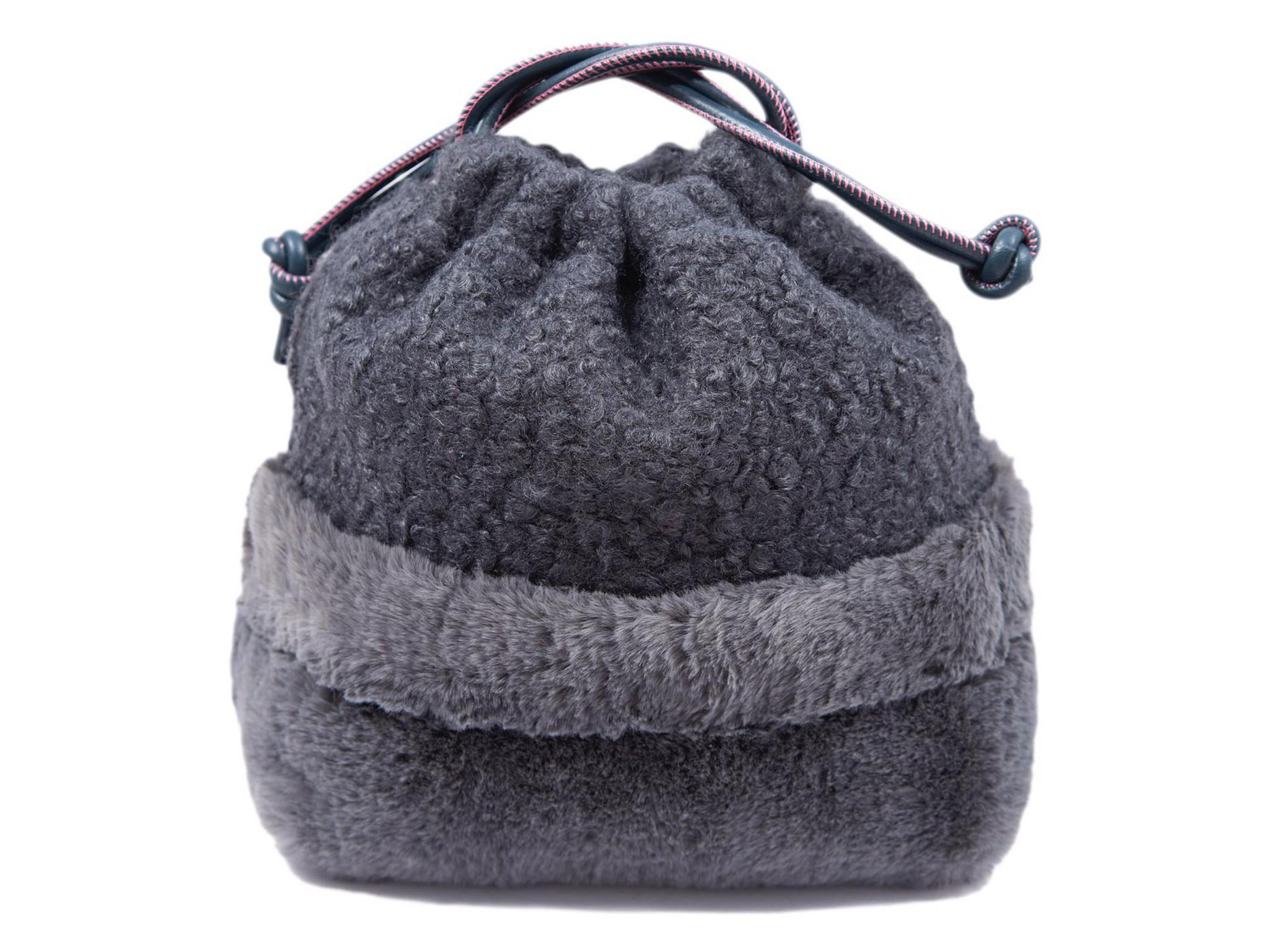 1d8173a66f1 Prettysac Charcoal Faux Fur and Wool Bag  £145, Prettysac