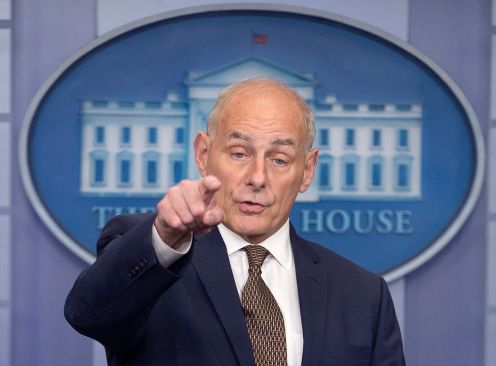 Former White House Chief of Staff John Kelly was critical of Donald Trump in candid comments on Wednesday night. EPA