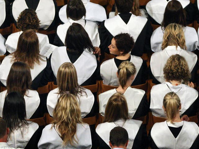 Universities are competing for students at a time when the overall number of applications is falling