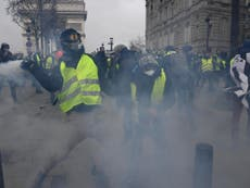 Paris protests: Tear gas fired as French authorities arrest hundreds