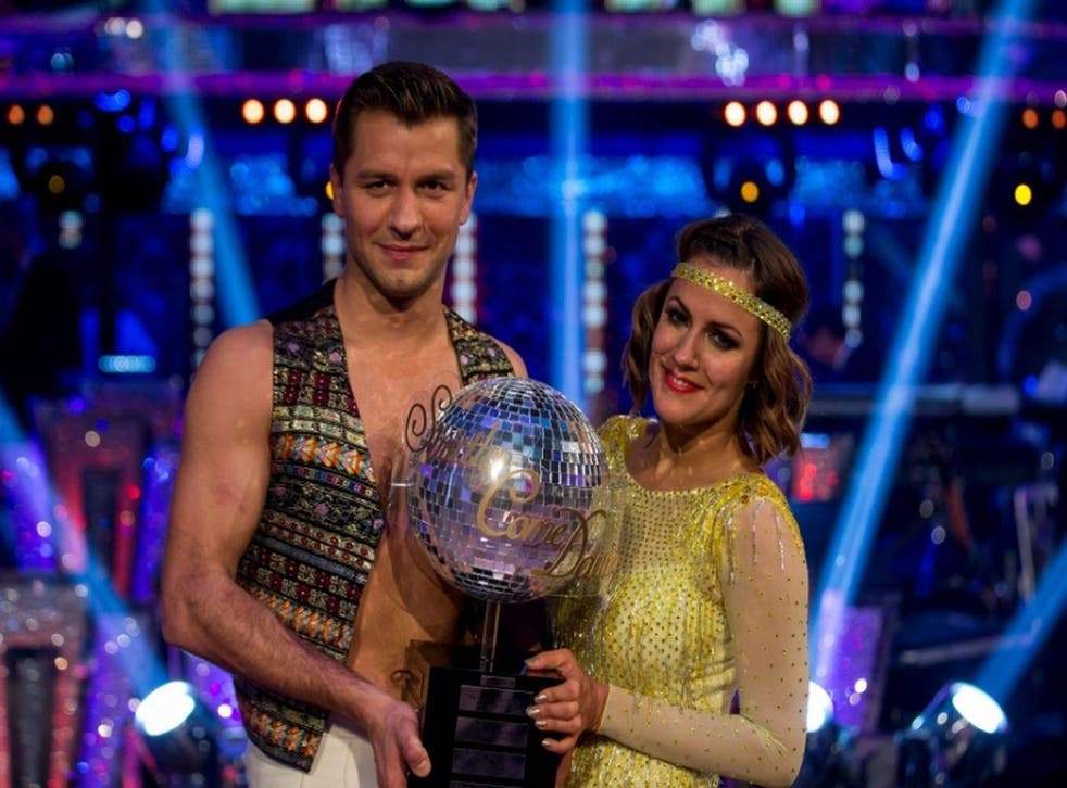 Caroline Flack after winning 'Strictly Come Dancing' in 2014