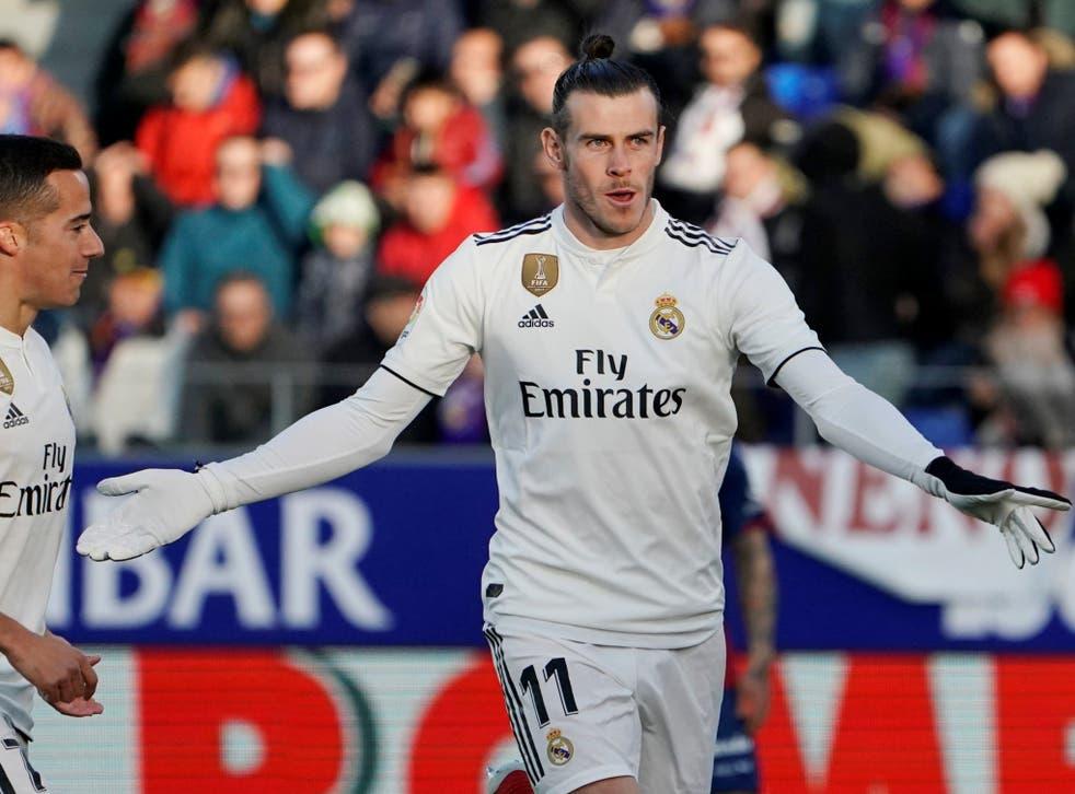 Gareth Bale celebrates putting Real Madrid in front