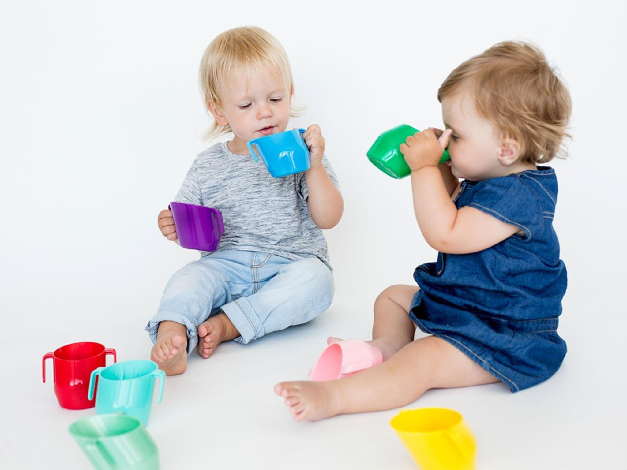 Children/'s Drinking Cup Double Handle Plastic Milk Cup Daily Houshold Accessory