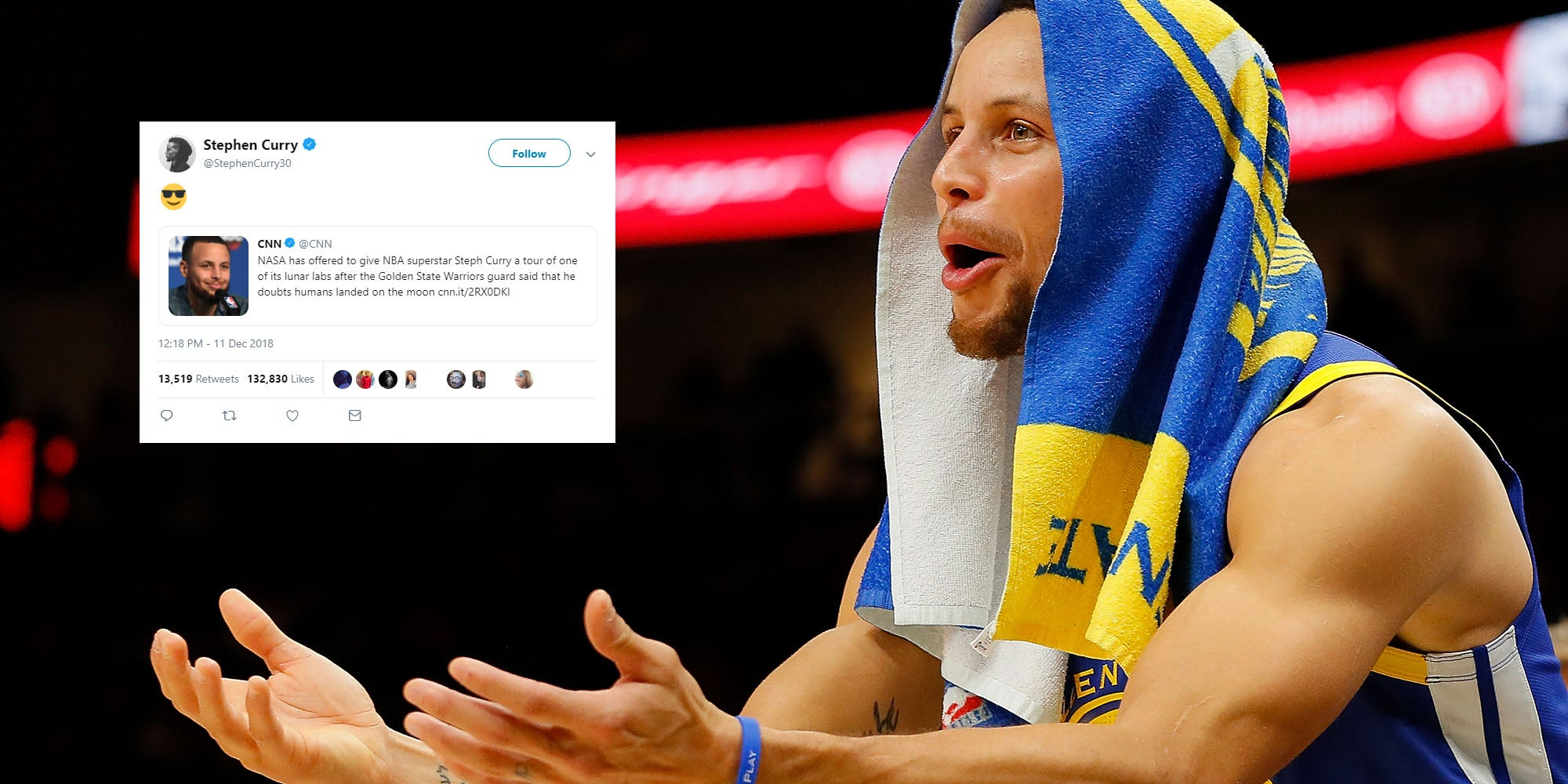 594098ef184c Caption  Getty Images. NASA has invited Steph Curry to examine space rocks  after the basketball star said that he doesn t believe the moon landing ...