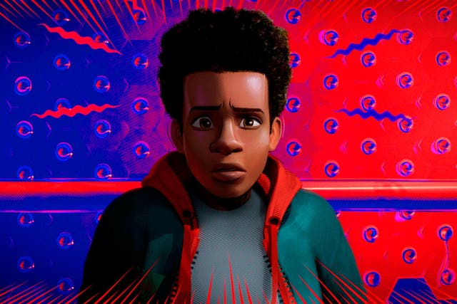 Miles Morales, voiced by Shameik Moore, in a scene from 'Spider-Man: Into the Spider-Verse'