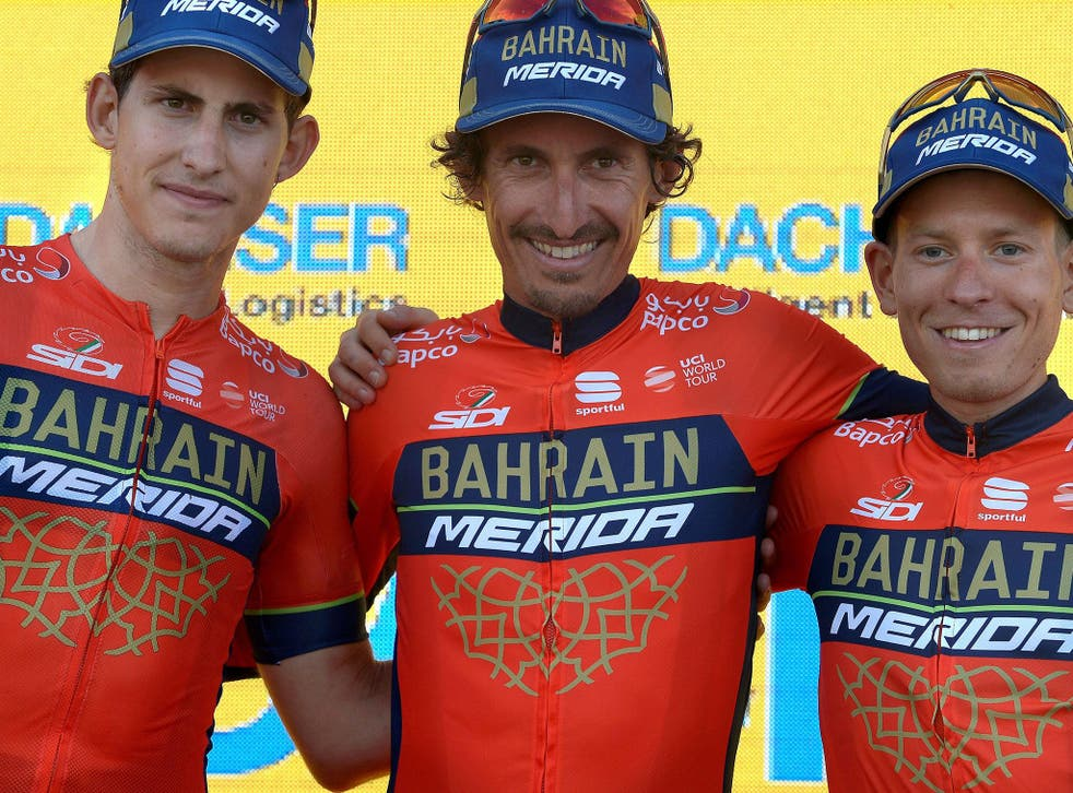 McLaren have entered a partnership with cycling team Bahrain Merida