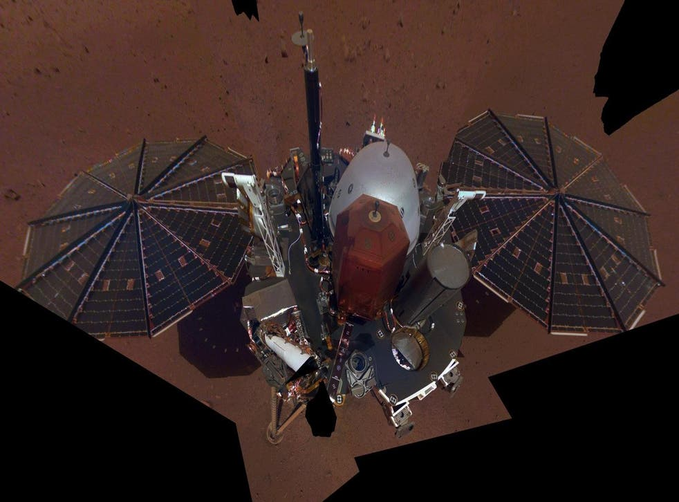 This is NASA InSight's first full selfie on Mars