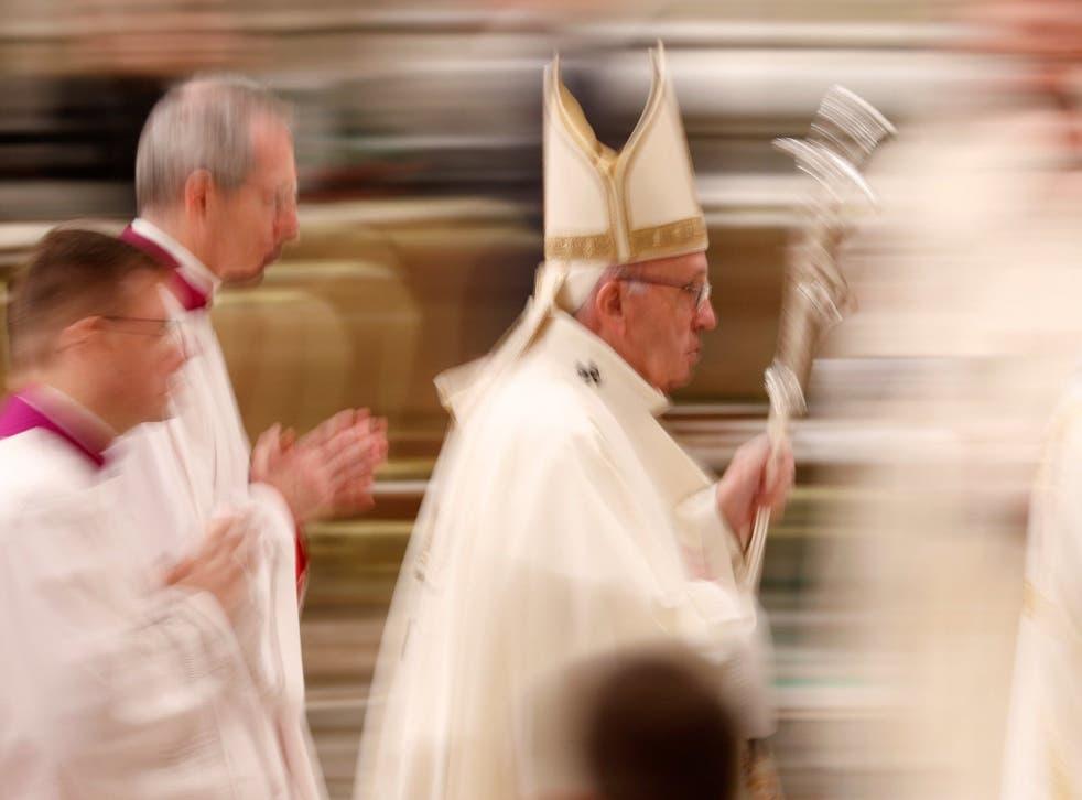 <p>A Catholic church says mask mandates infringe students' religious beliefs</p>