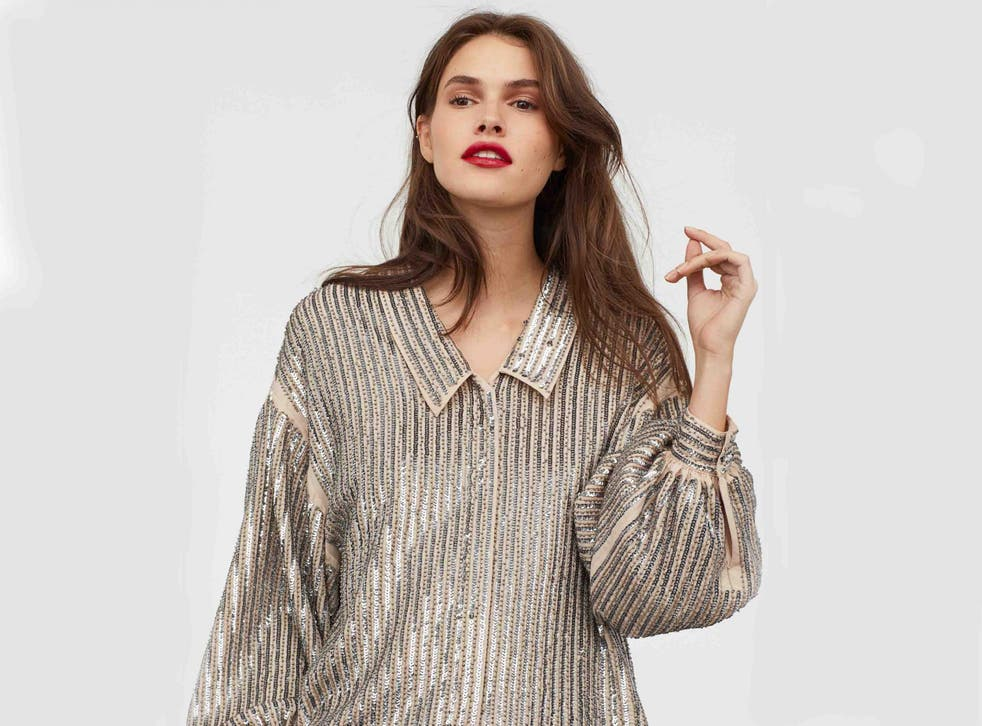 Sequin-Embroidered Blouse, £69.99, H&M