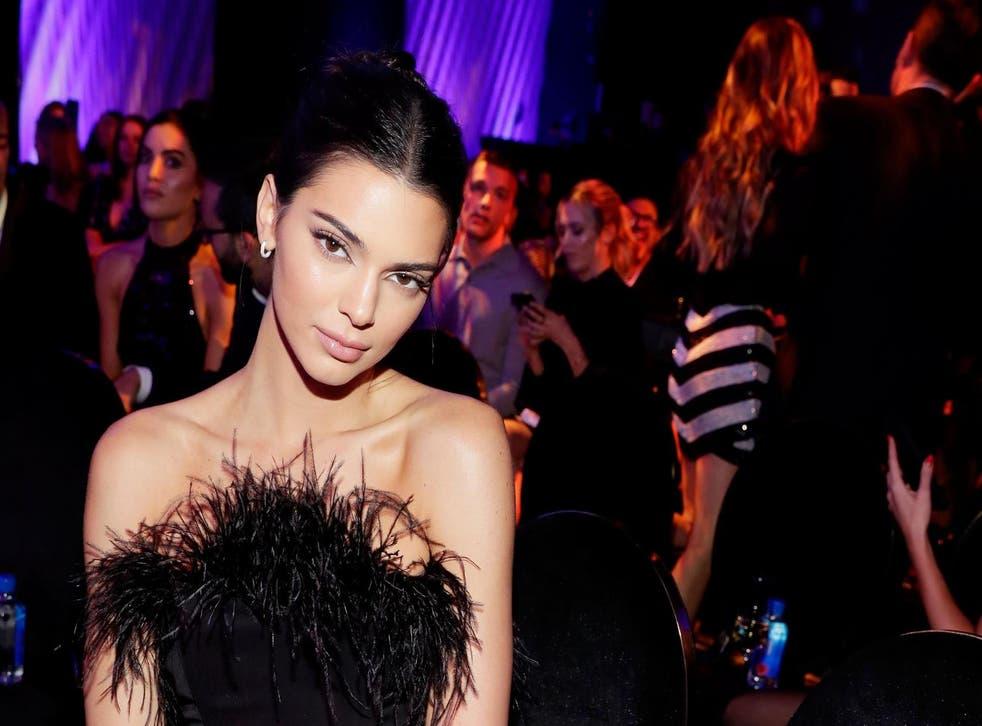 Kendall Jenner attends the 2018 Revolve Awards in Las Vegas in November
