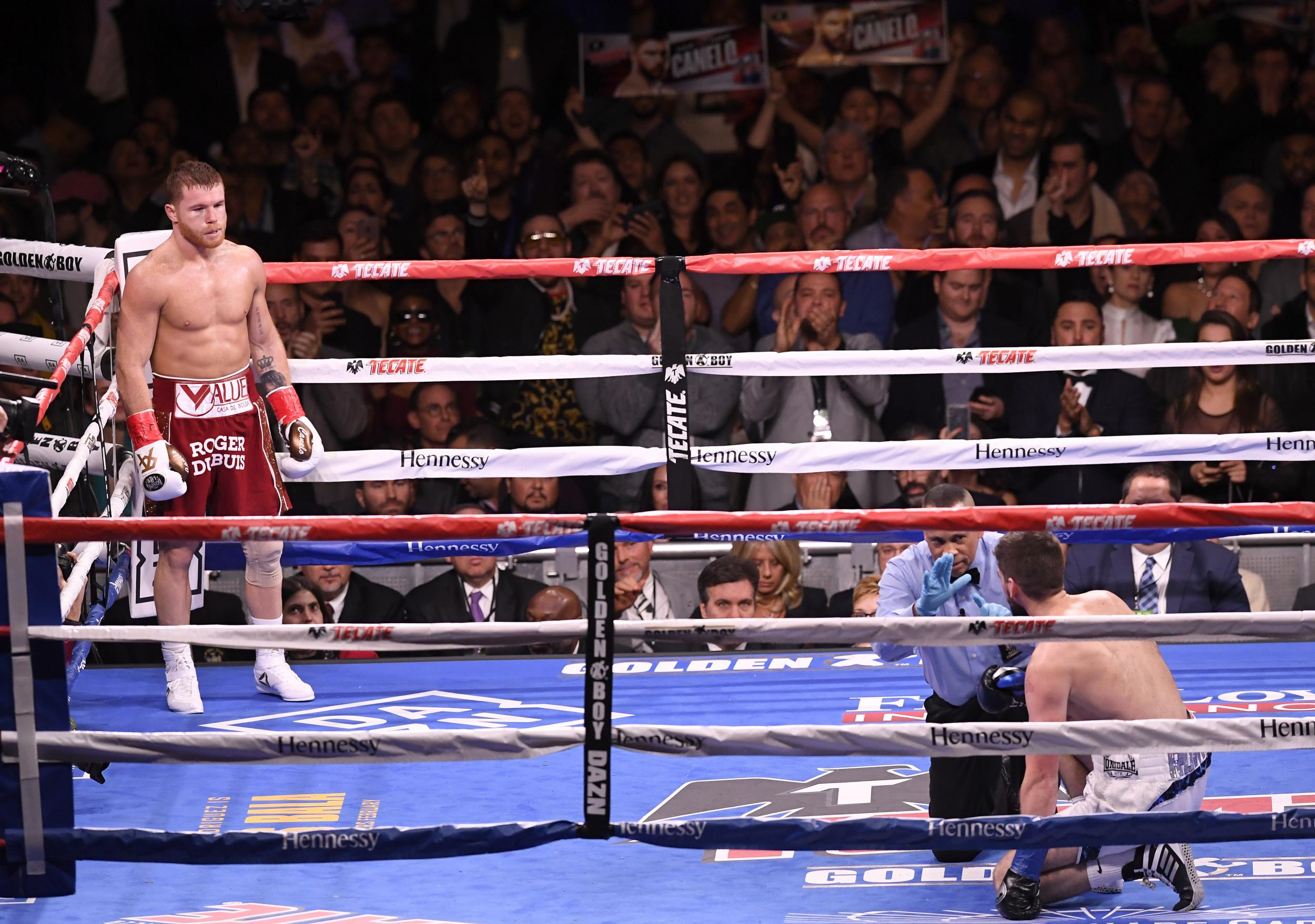 Canelo Alvarez claims he 'knew the weakness' of Rocky Fielding as he delivers third round TKO to win WBA title