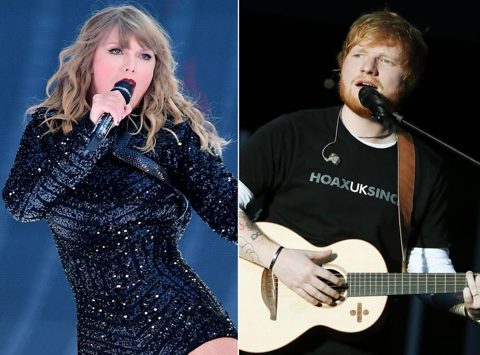 Ed Sheeran and Taylor Swift had the highest grossing tours of 2018