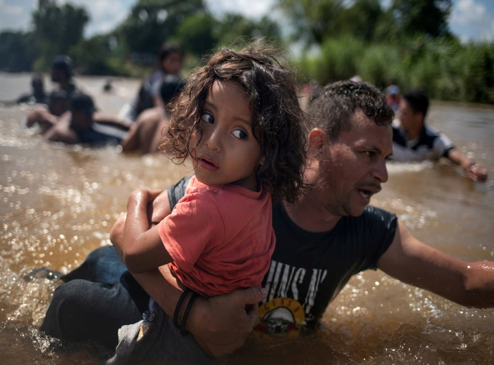 Migrants make the arduous journey towards the United States as thousands travel in caravans from countries across Latin America.