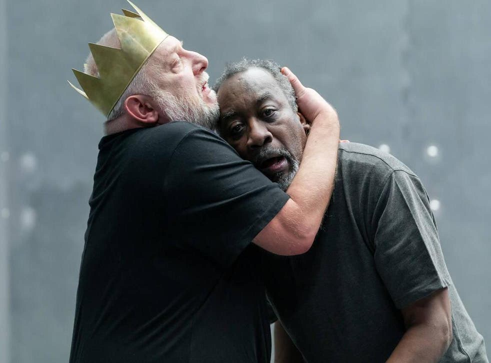 Simon Russell Beale and Joseph Mydell in 'The Tragedy of King Richard the Second'