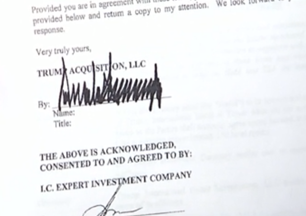 trump signed trump tower moscow letter of intent document reveals