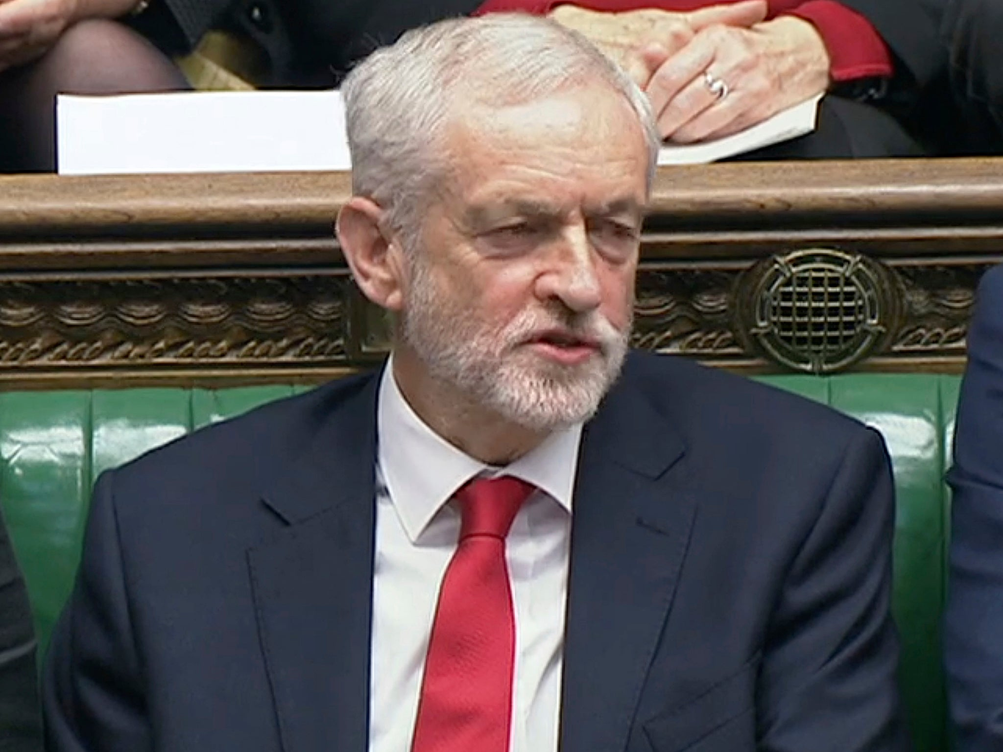 Corbyn appears to call Theresa May 'stupid woman' at PMQs, drawing criticism from Labour MP
