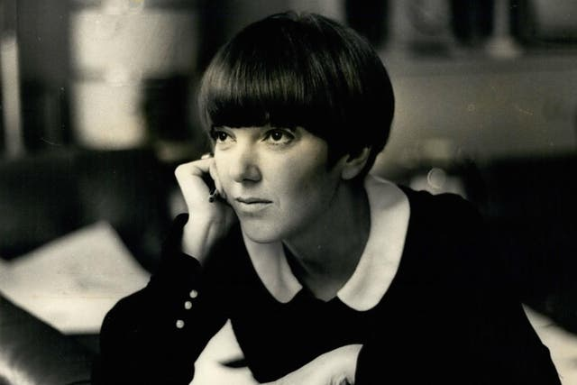 Mary Quant at home in Chelsea, 1968