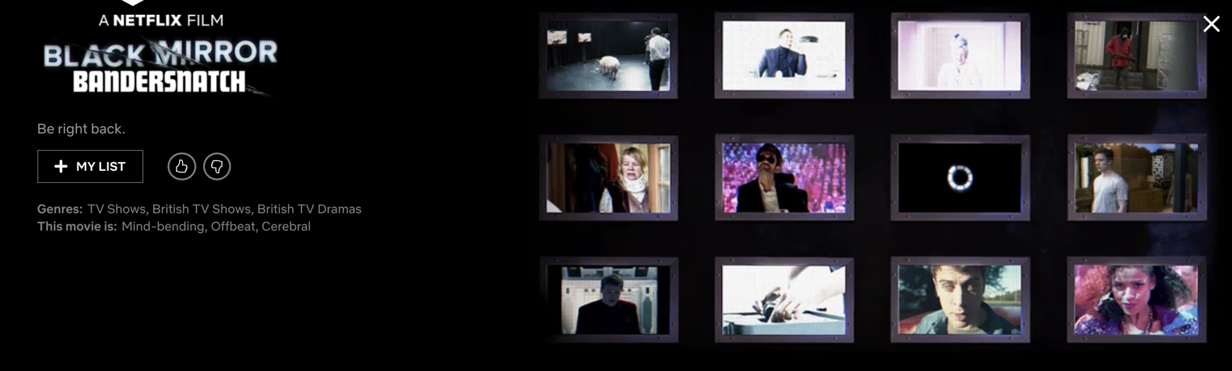 Black Mirror to release film Bandersnatch on Netflix next