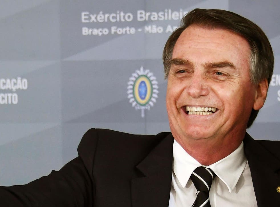 Jair Bolsonaro was elected in October 2018