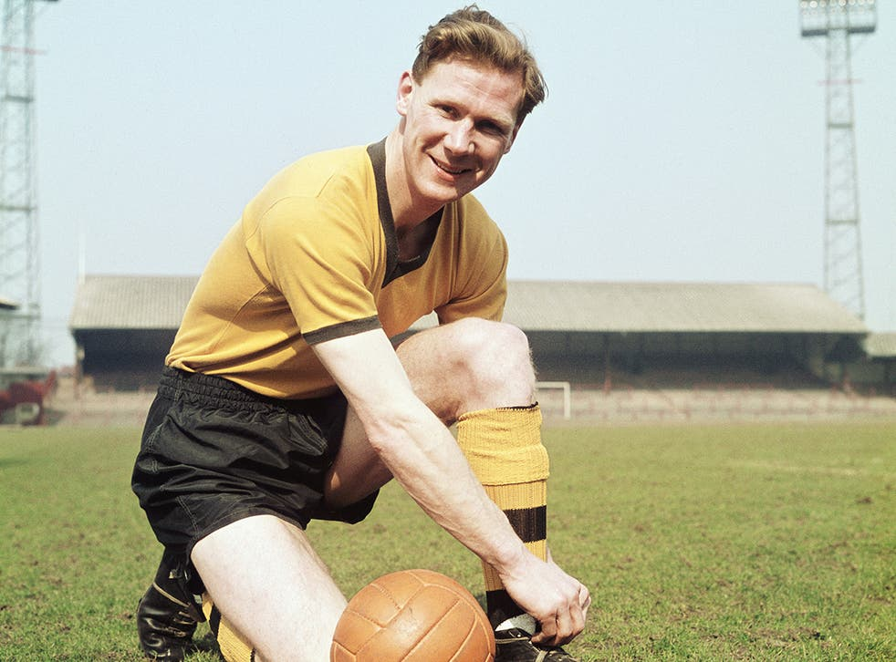 Slater in 1960: he made 339 appearances for Wolverhampton Wanderers, without a single booking