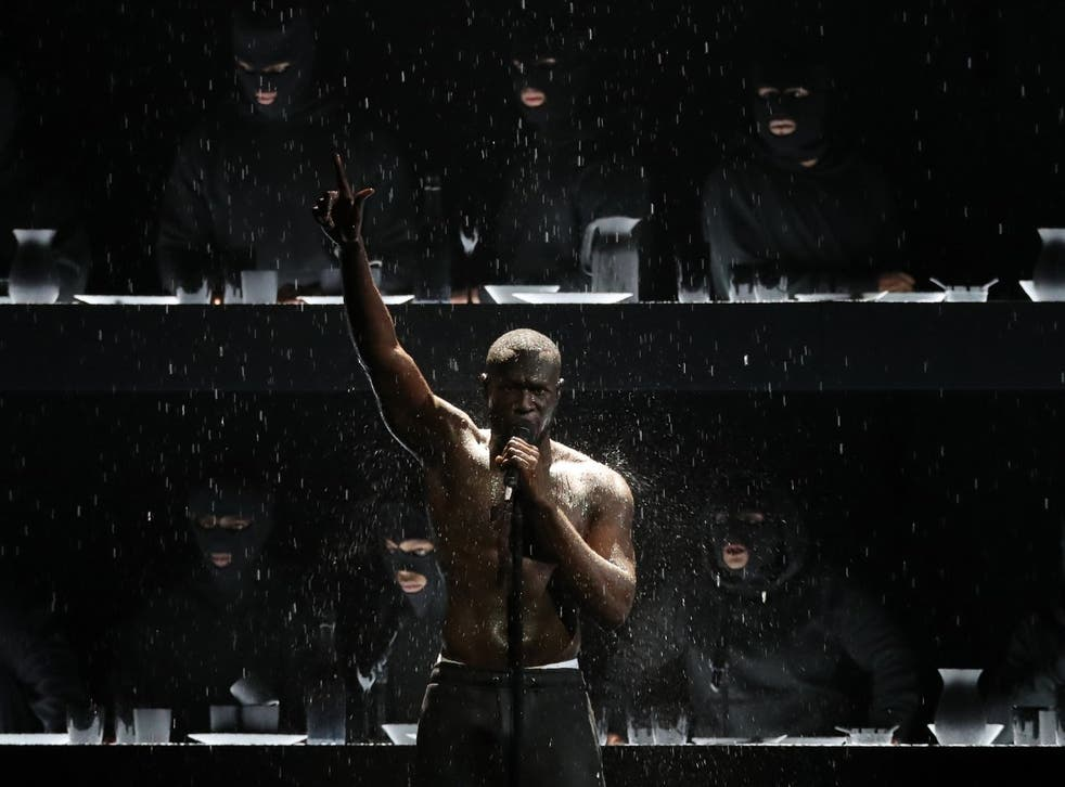 Stormzy's Brit Awards performance provided one of the year's most enduring images