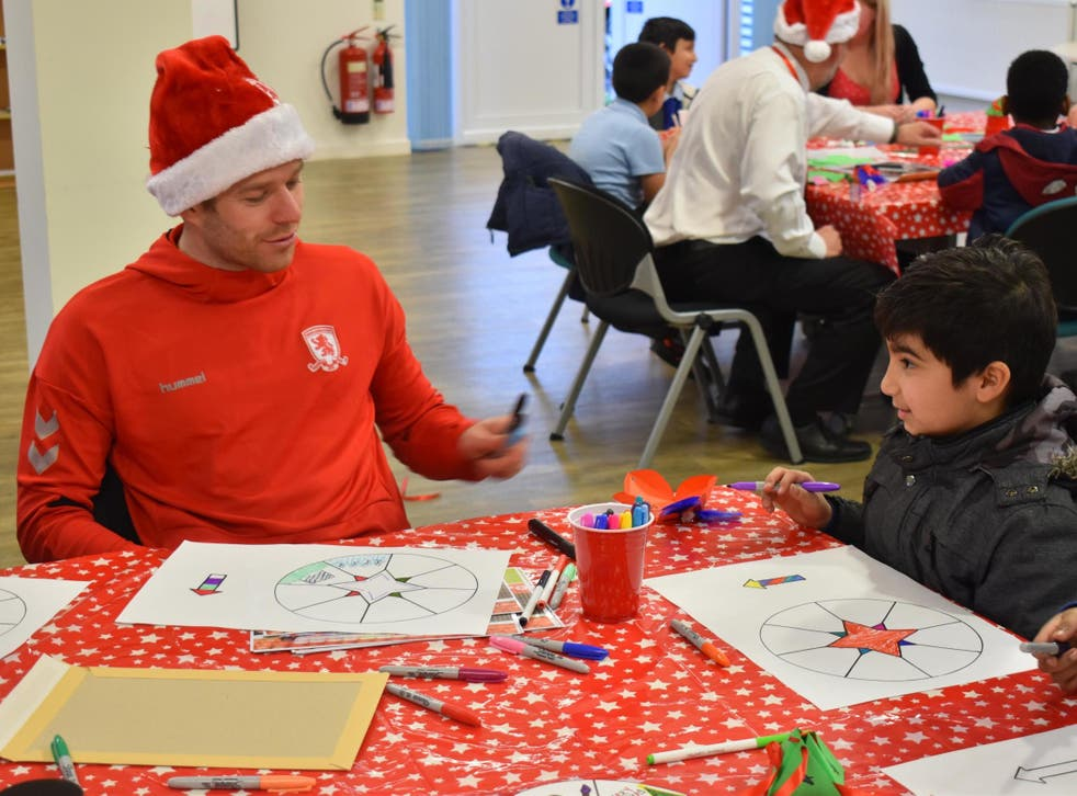 Adam Clayton at the Middlesbrough and Stockton Mind Centre