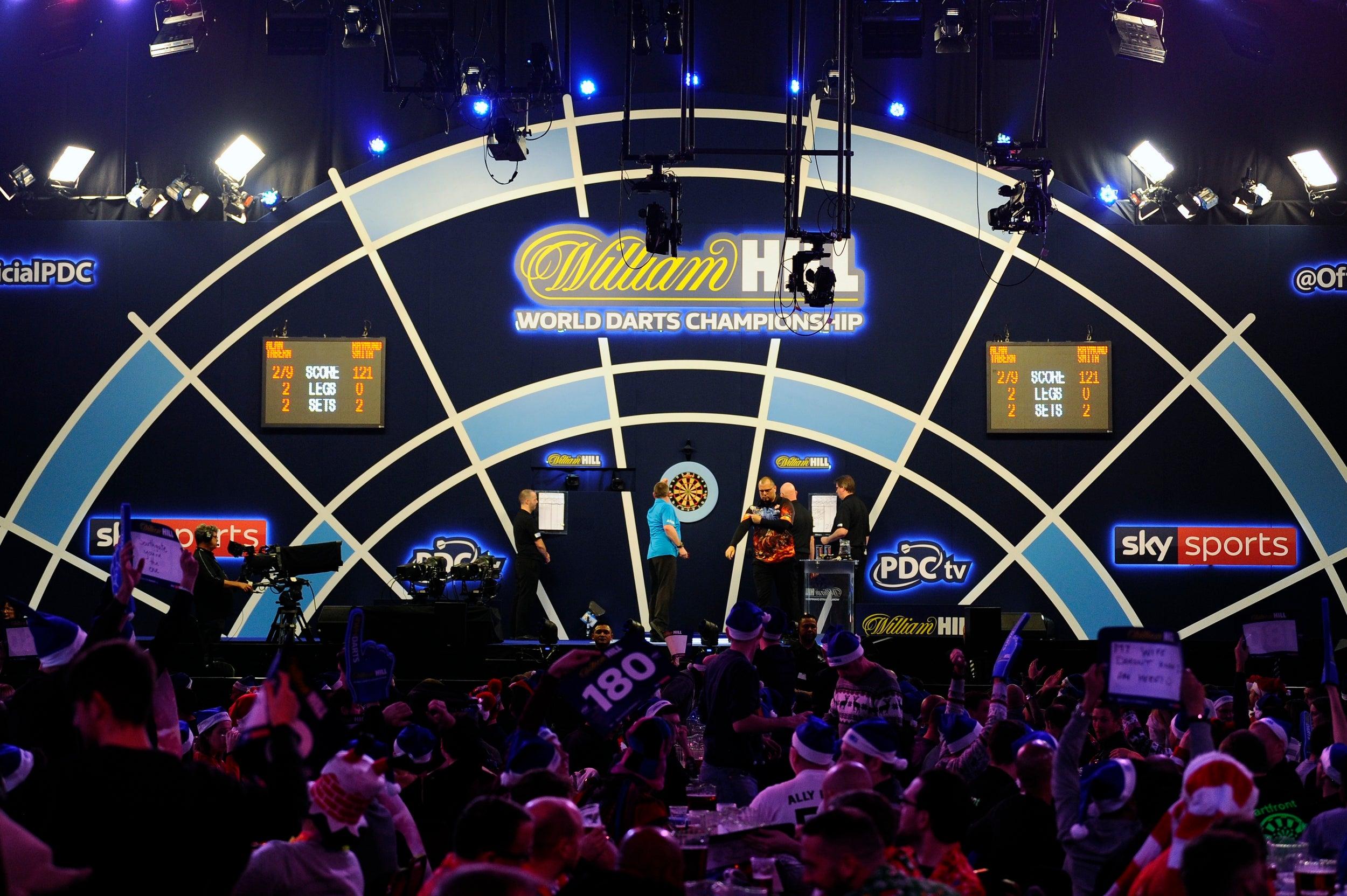 Darts World Championship: Michael van Gerwen and Gary