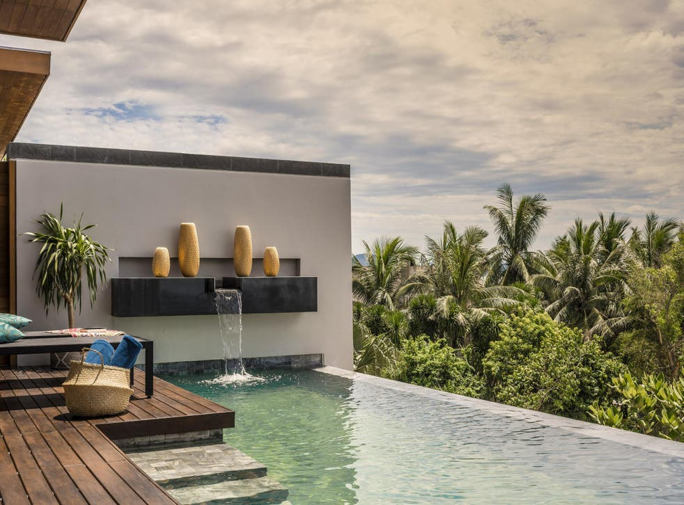The pool deck at Anantara Quy Nhon Villas in Vietnam