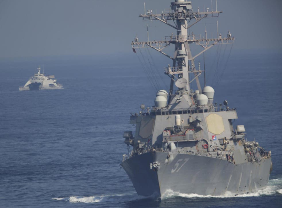 The carrier entered the Gulf on Friday