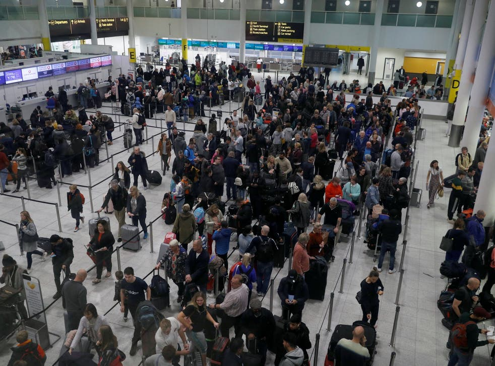 The airport saw a huge amount disruption due to a drone in its airspace
