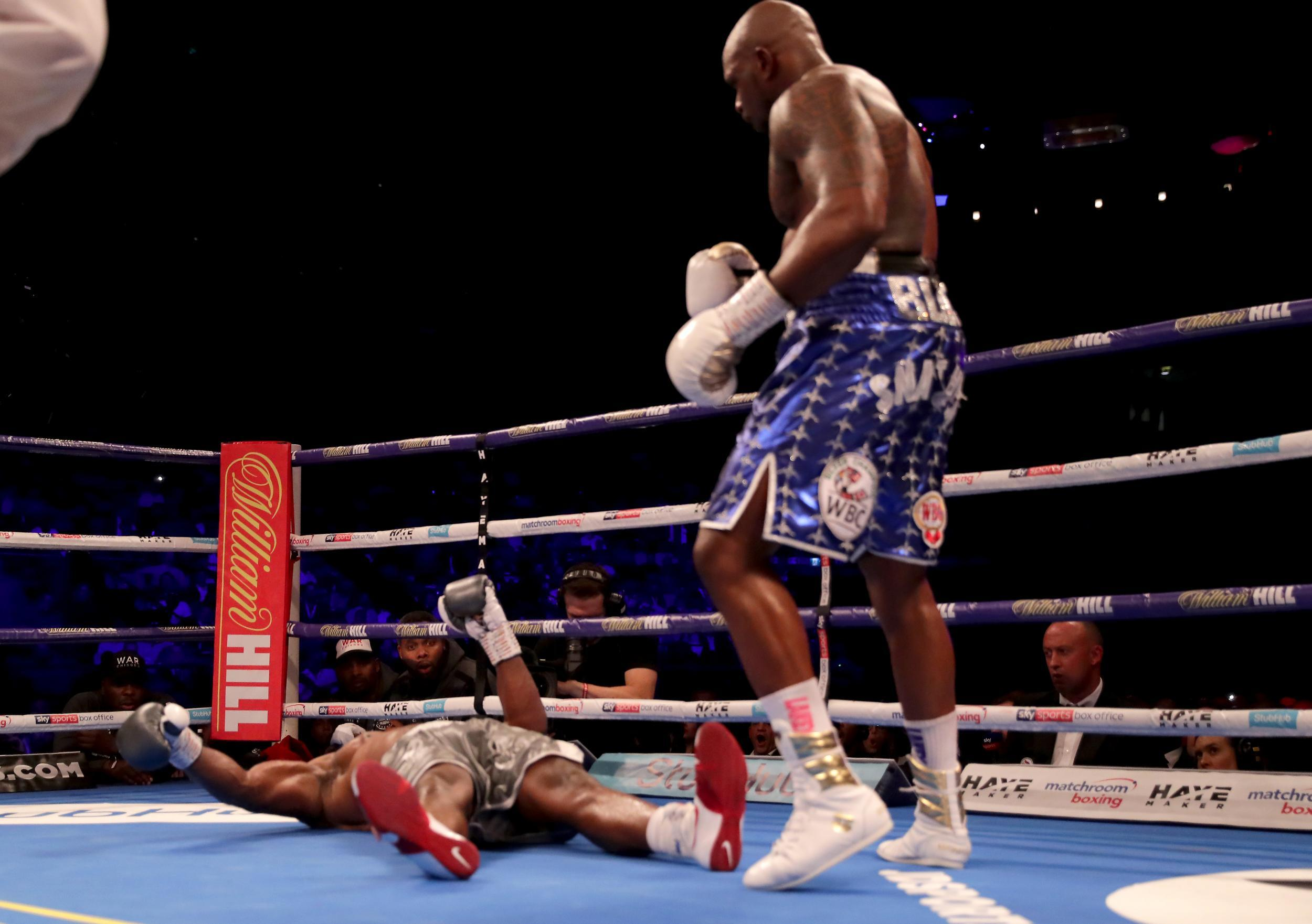 32a10724 Dillian Whyte knocks out Dereck Chisora in the eleventh round to tee up Anthony  Joshua rematch | The Independent