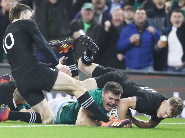 Jacob Stockdale secured Ireland's victory over New Zealand and could prove to be one of the star's of 2019