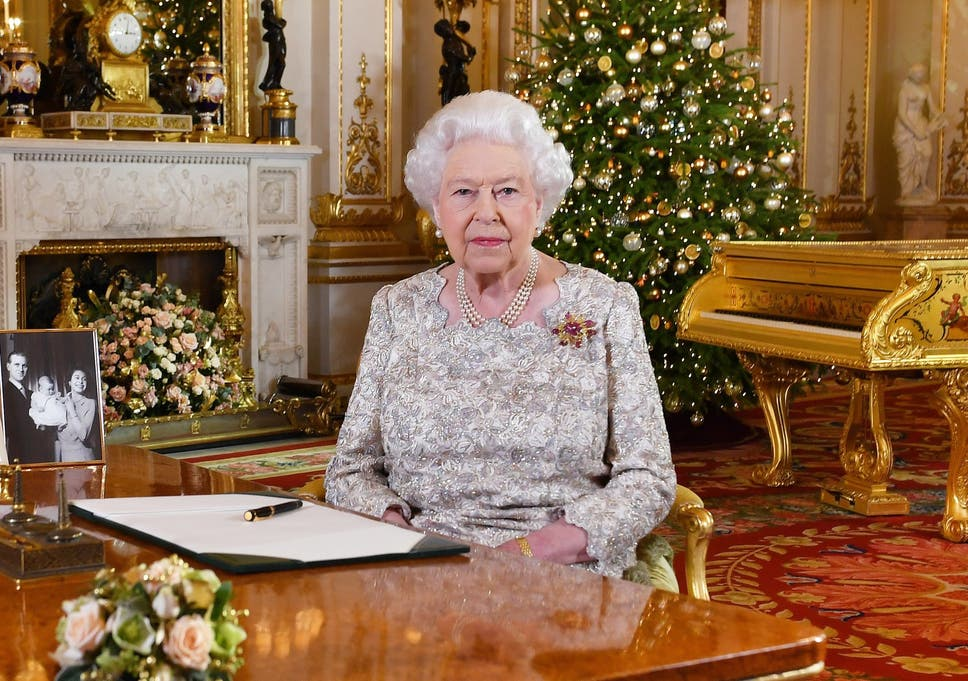 Queen Elizabeth II Poses For A Photo After She Recorded Her Annual Christmas Day Message