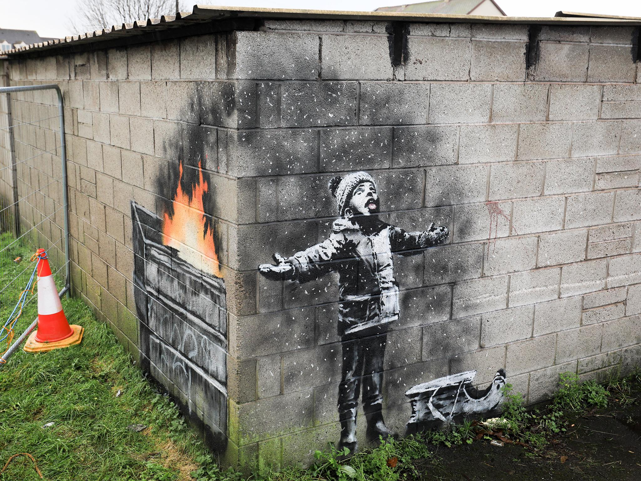 Banksy mural attacked by 'drunk halfwit' | The Independent