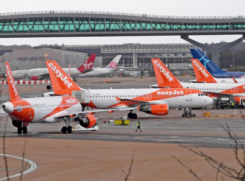 EasyJet flights grounded at Gatwick on Thursday