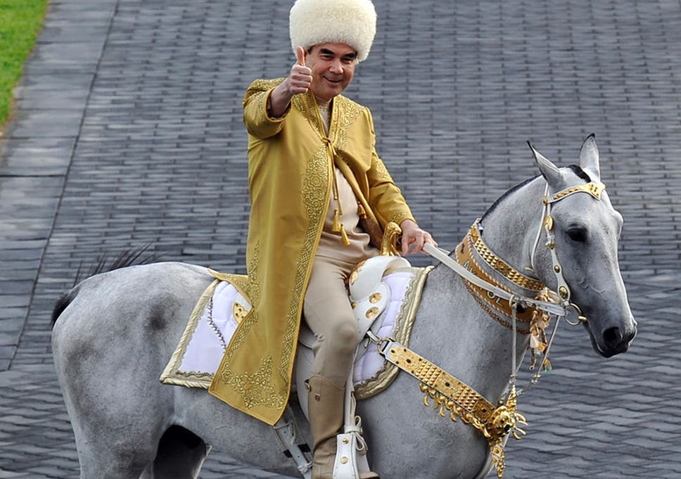 Billedresultat for turkmenistan president gift