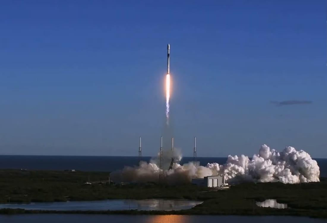 SpaceX rocket finally launches first spy satellite into ...
