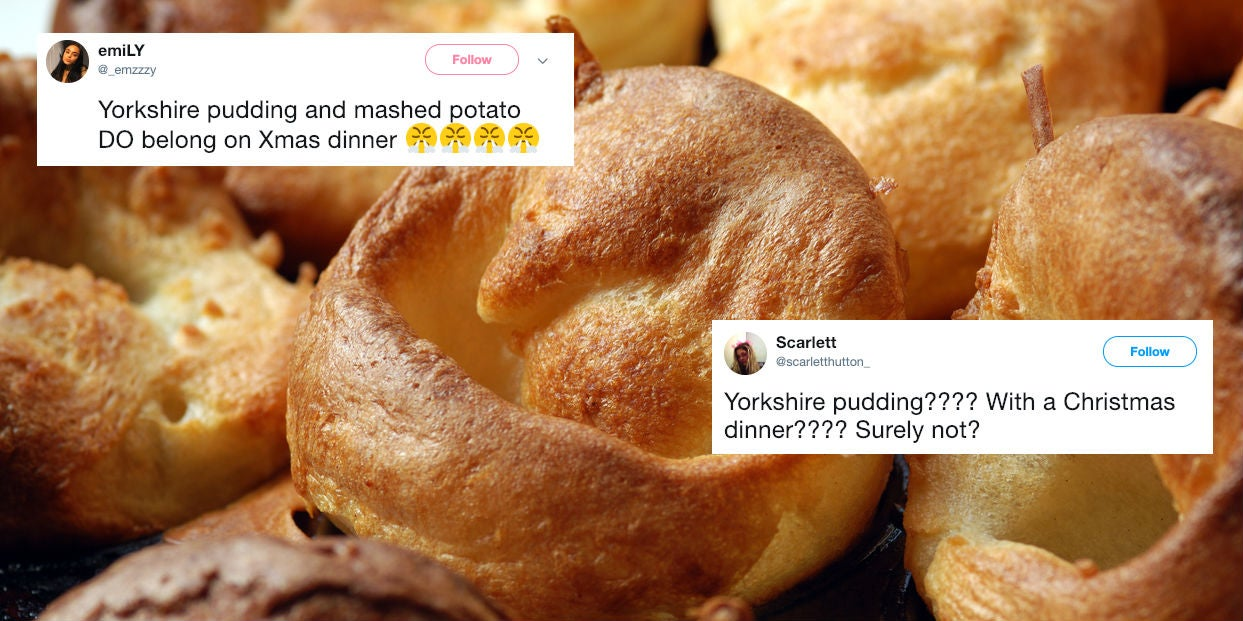 Christmas Dinner In A Can.People Can T Decide If You Should Have Yorkshire Puddings