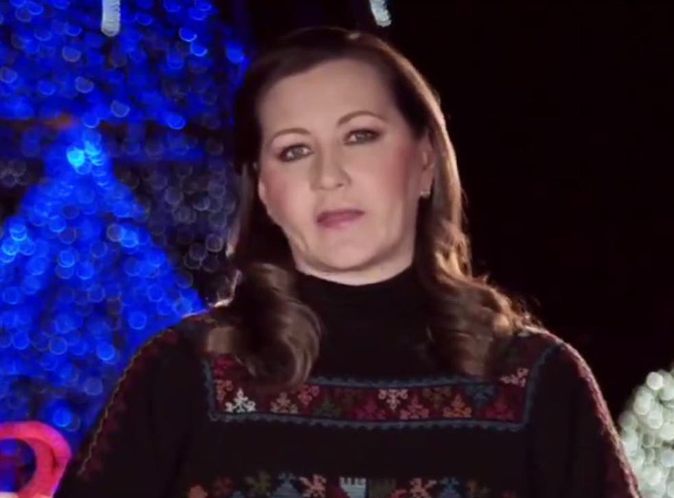 Puebla state governor Martha Erika Alonso gave a Christmas video message at the weekend
