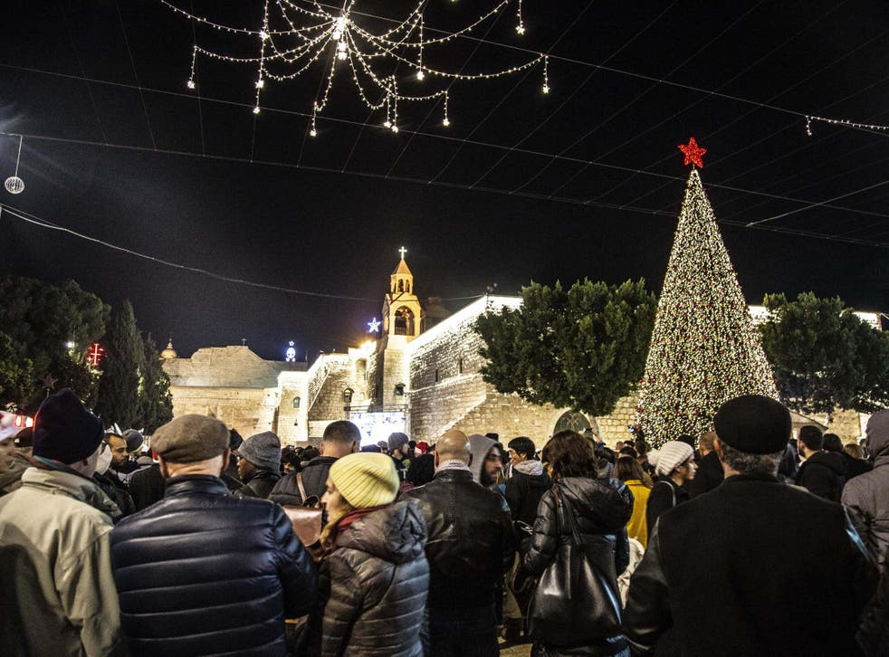 Christian Palestinians celebrate Christmas in Bethlehem