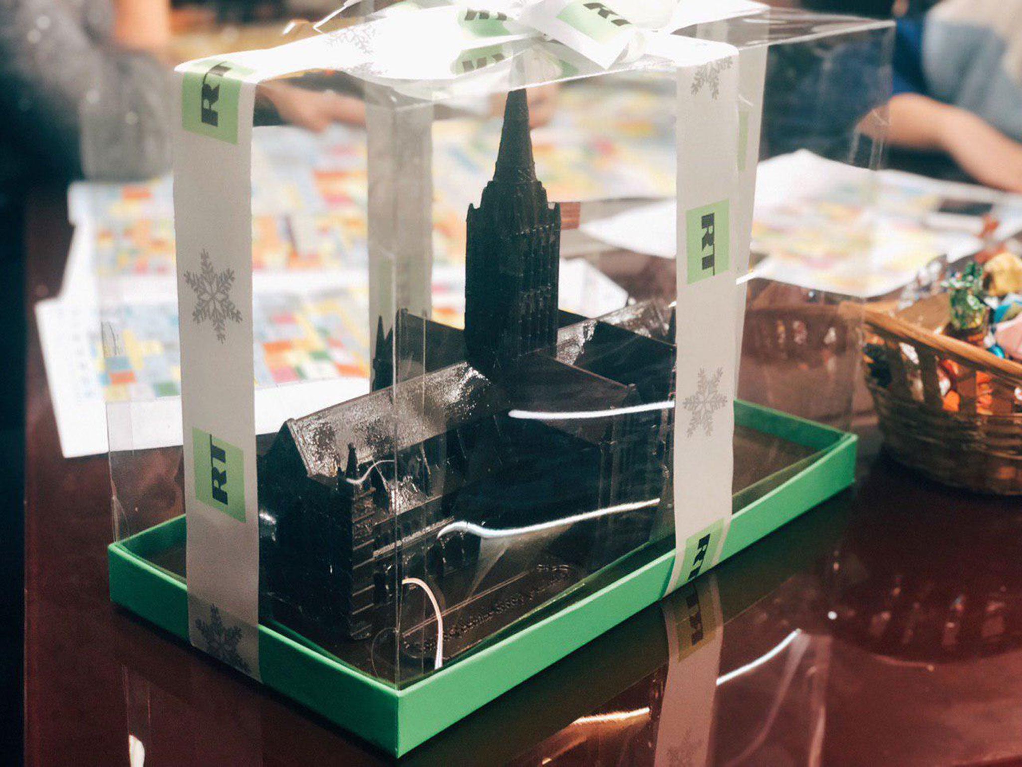 Russian state media sends chocolate models of Salisbury Cathedral as 'sick' gift referencing novichok attack