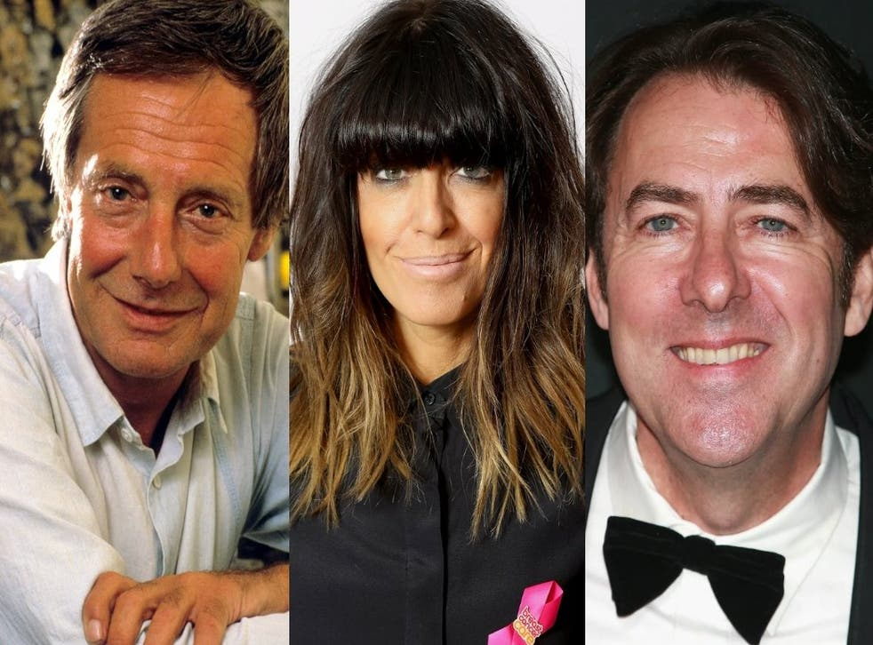 (l-r) Barry Norman, Claudia Winkleman, and Jonathan Ross