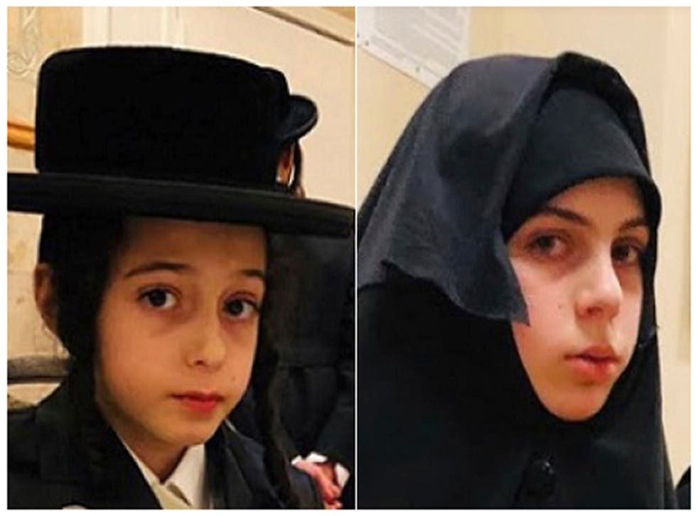 Chaim Teller, 12, left, and his sister Yante Teller, 14, were kidnapped from their New York home on 8 December