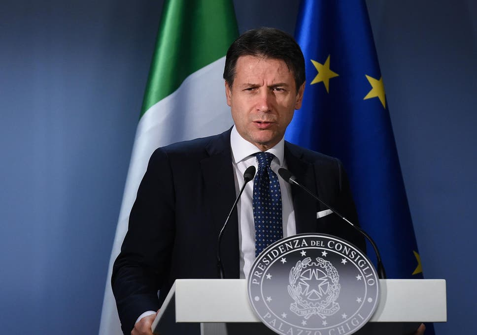 Italian Prime Minister Giuseppe Conte says he supports an end to Saudi arms sales